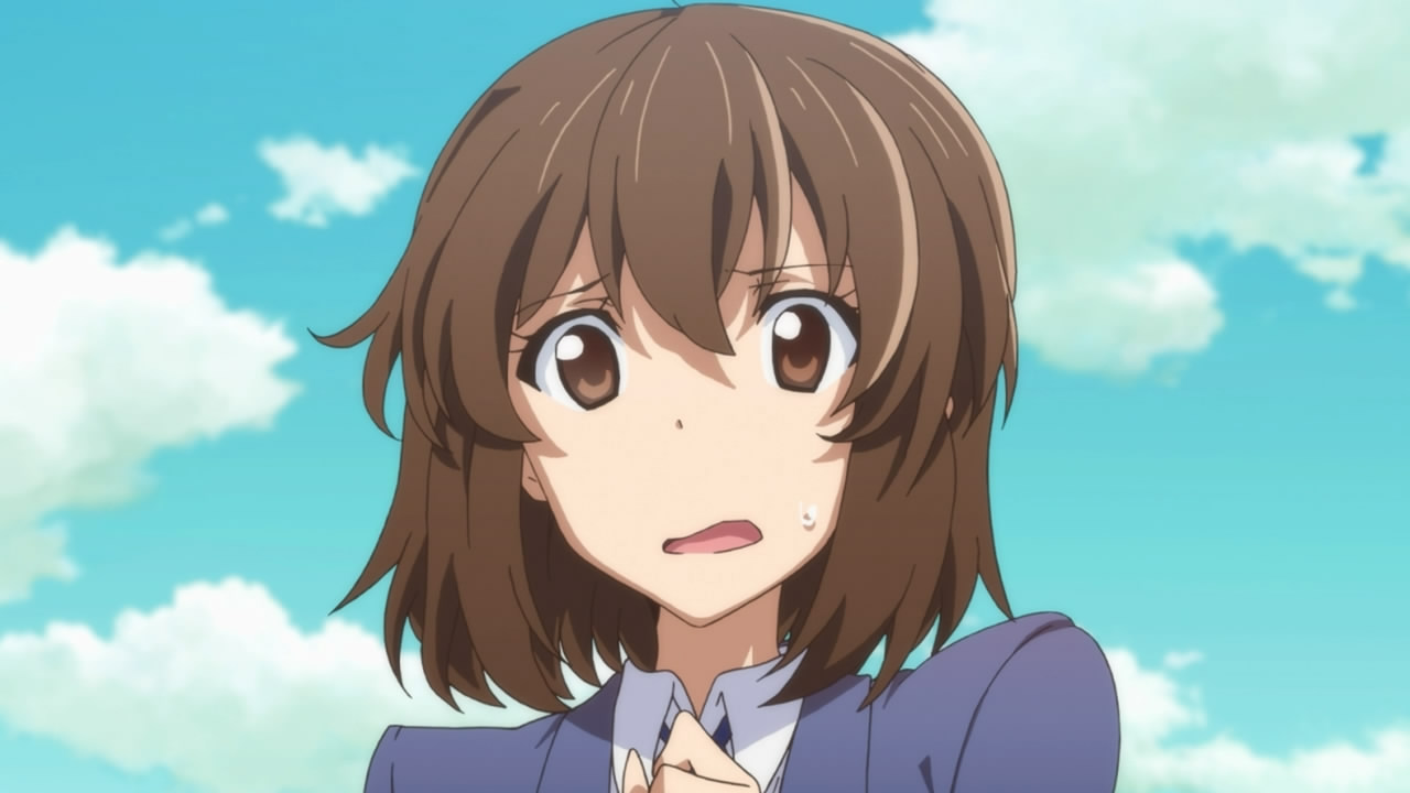 Image Gallery nervous anime girl