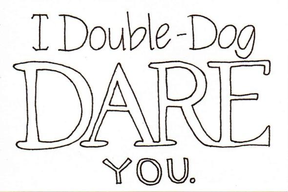Suzy Cucumber Double Dog Dare