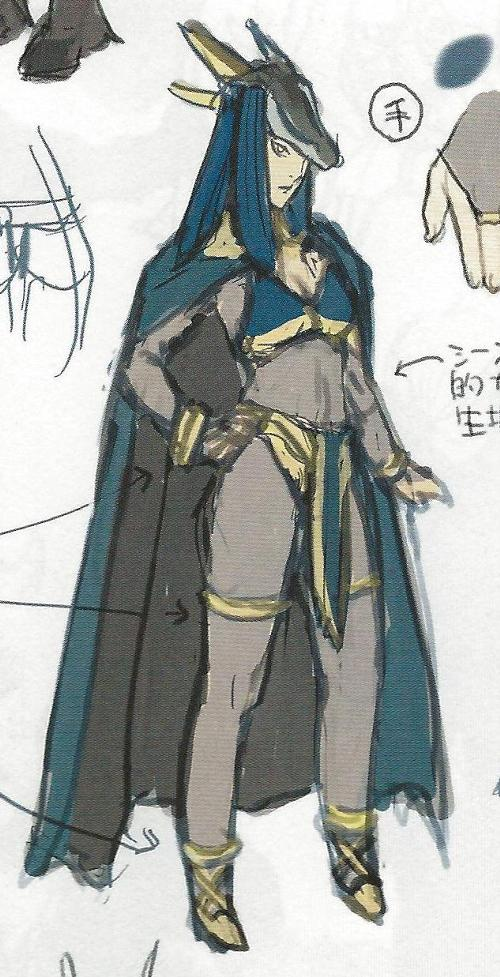 Concept art of the female Dark Mage.