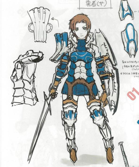 Concept art of the female Hero.