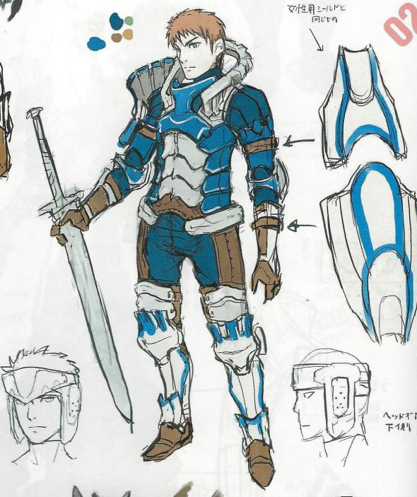 Concept art of the male Hero.