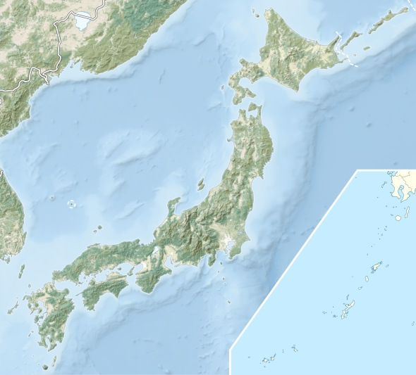 Pictured: Japan, with a side-map of the Ryuku Islands. Note that Honshu, the central area of Japan, is covered in mountains. The Defense rests its case, Your Honor.
