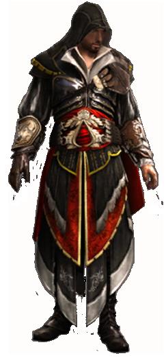 O hai, Pro Assassin Ezio Auditore da Firenze! (Sporting the ever-so-badass Armor of Altair, even!)
