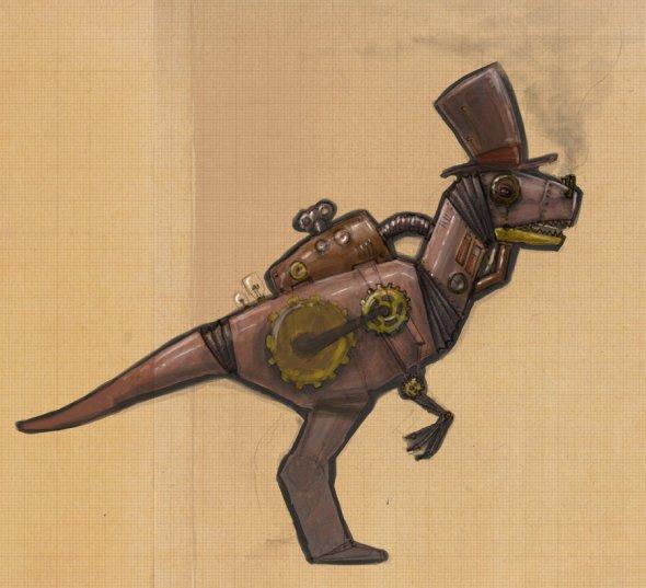 steampunk_dinosaur_by_zorayas-d30lq4f