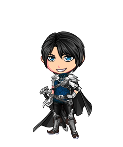 O hai, Lance! (He doesn't actually have a cape on his regular outfit, that just came attached to the gloves. So did the sword, but that he does have.)
