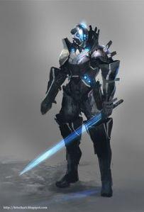 Defender-class Diminutive Combat Titan, Sword Specialist Type-001, codename: Gilderoy. (