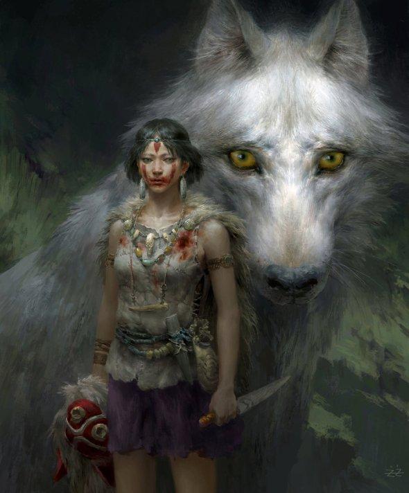 astonishing-princess-mononoke-fan-art-by-tianhua-x