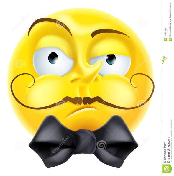 snooty-emoji-emoticon-arrogant-condescending-looking-smiley-face-character-bow-tie-raised-eyebrow-57984556