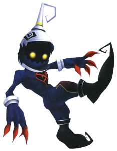 Pictured here: a very generic Heartless enemy.