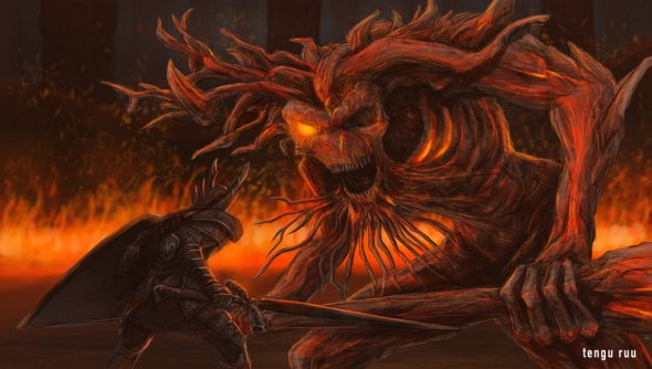 http://oniruu.deviantart.com/art/Dark-Souls-3-Old-Demon-King-620040925