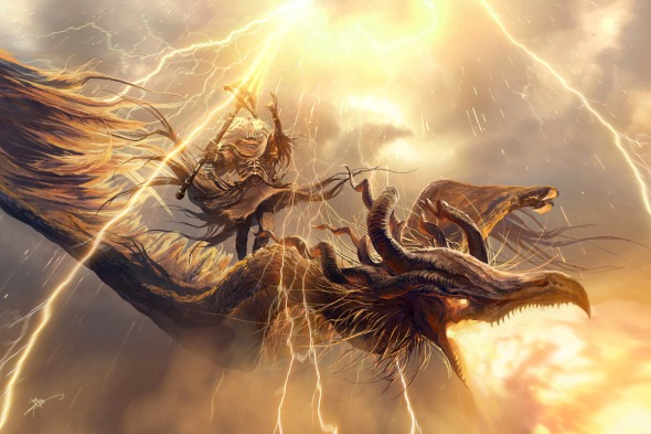 Behold the Nameless King of Anor Londo. The Sun's Firstborn, Heir to Lightning, King of the Storm, Ally of Dragons, Creator of the Cross Spear, and God of War.
